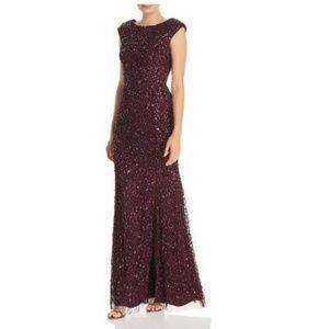 Adrianna Papell Plum Mermaid Dress